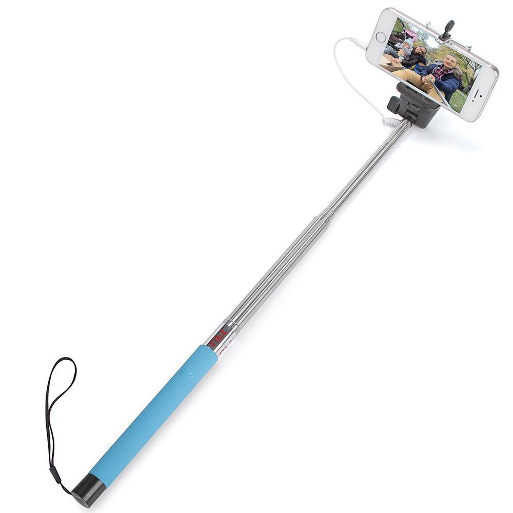 Монопод для селфи UFT Light Blue со шнуром