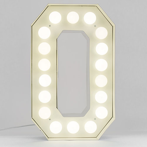 Буква O с подсветкой Seletti, фото