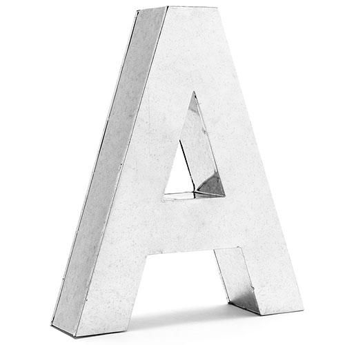 Металлическая буква А Seletti, фото