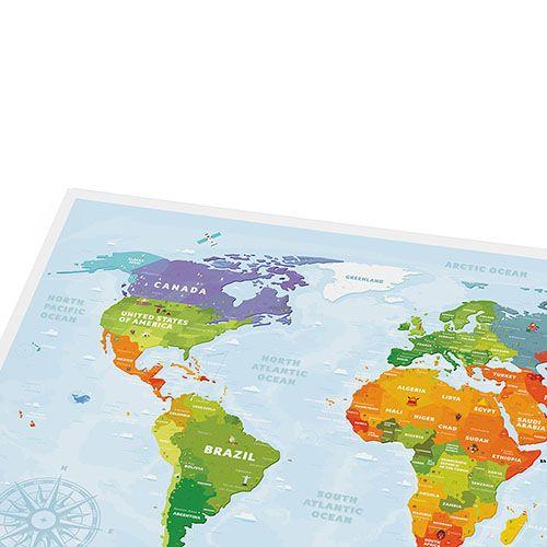 Скретч-карта для детей Travelmap Sights, фото