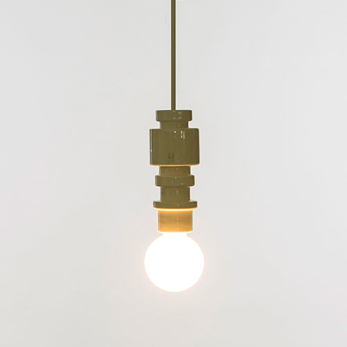 Белый подвесной светильник Seletti Turn, фото