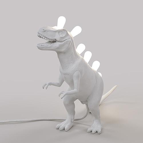 Светильник настольный Seletti Jurassic Lamp Rex белый динозавр, фото