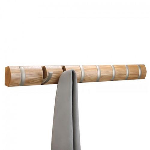 Деревянная настенная вешалка Umbra Flip Natural, фото