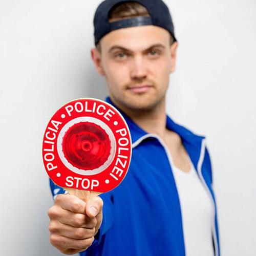 Красная ракетка для настольного тенниса Donkey Patrol, фото