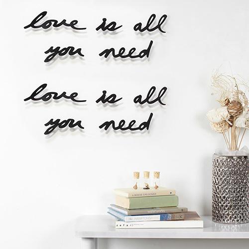 Декоративная надпись Декор Umbra Mantra Love для стен, фото