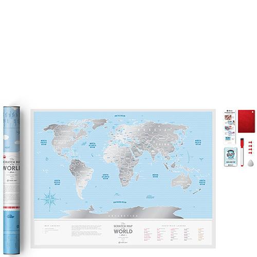 Карта мира Travelmap из пластика со скретч-покрытием для открывателей, фото