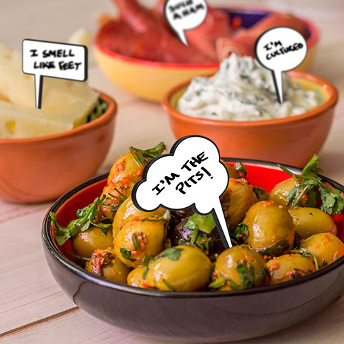 Набор для закусок Fred and Friends из 12 маркеров и стираемого фломастера, фото