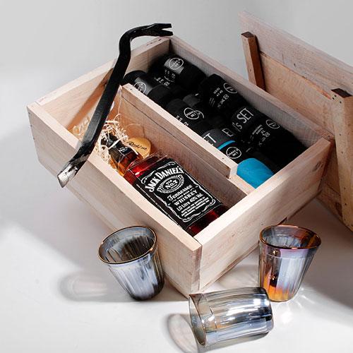 Мужской подарочный набор боксеров и носков Mans Set Jack Daniels, фото