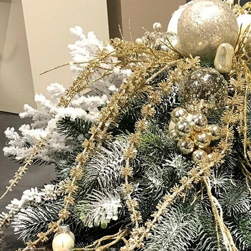 Ваза-ладья Роскошь с новогодней композицией, фото