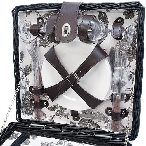 Корзина для пикника HOFF Interieur Dorset с набором на 2 персоны, фото