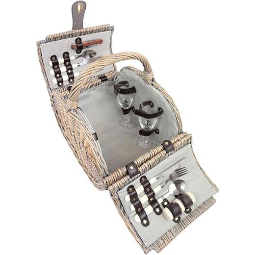 Корзина для пикника HOFF Interieur Camargue с набором посуды , фото