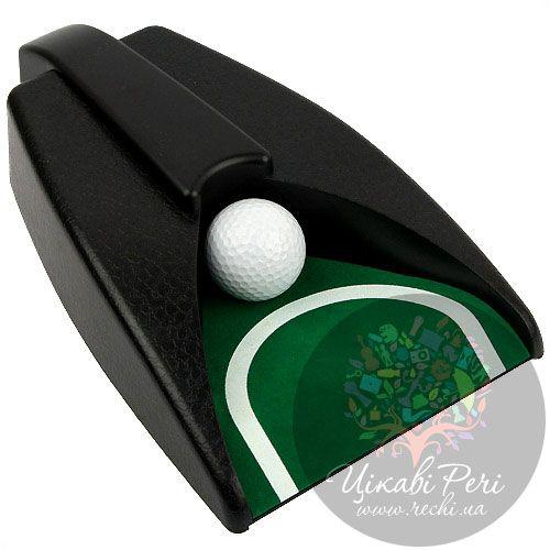 Набор для гольфа в металлическом кейсе с механизмом возврата мяча , фото