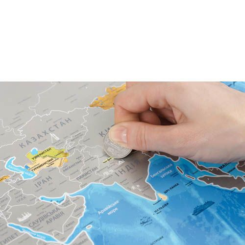 Скретч карта Discovery Map World на украинском языке, фото