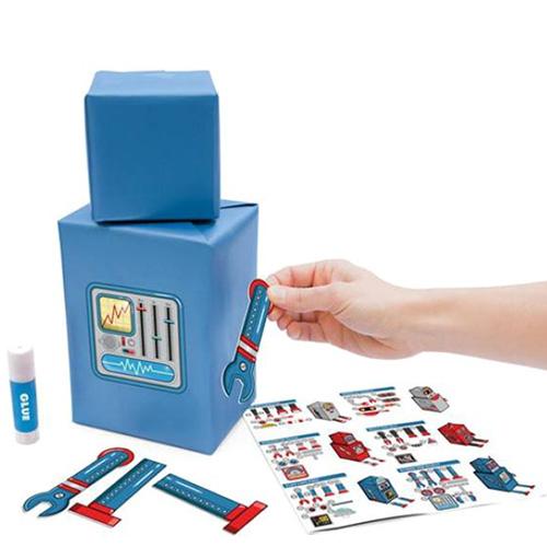 Набор для упаковки подарков Luckies Robot Gift Wrap, фото
