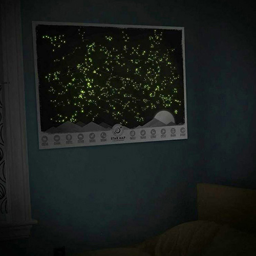 Карта звездного неба Luckies на английском языке, фото