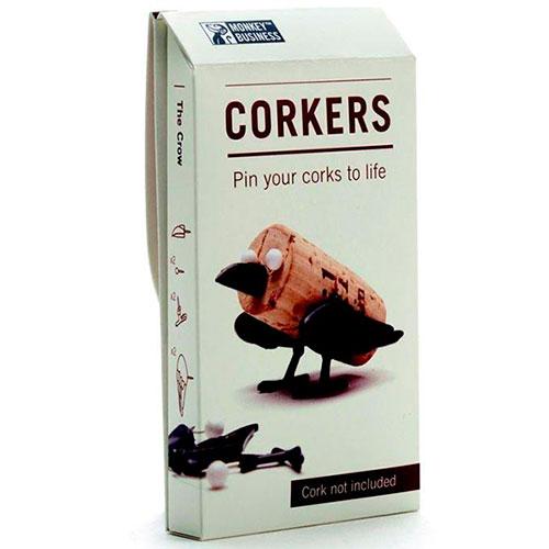 Набор украшений для пробки Monkey Business Crow Animal Corker, фото