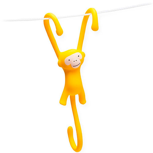 Крючки для кухни Monkey Business Just Hanging желтые, фото