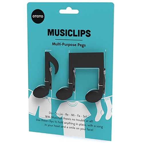 Набор прищепок OTOTO Musiclips музыкальные ноты, фото