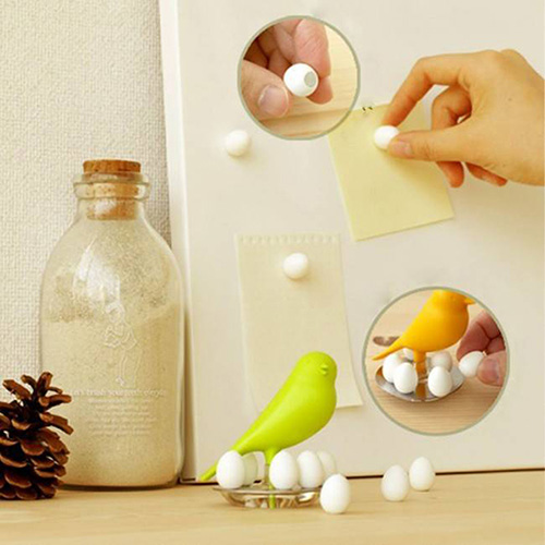 Набор магнитов Qualy Magnetic Egg Sparrow для магнитной доски, фото