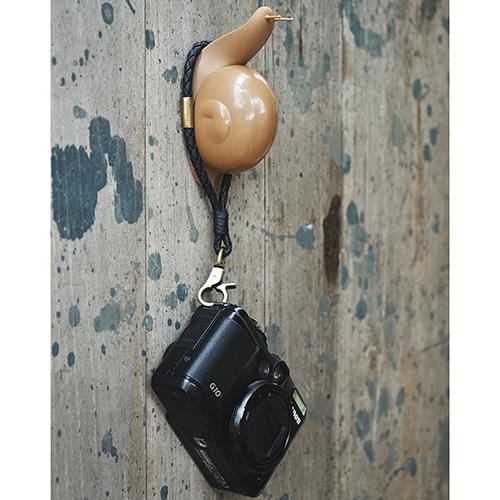 Крючок настенный Qualy Esco коричневая улитка, фото