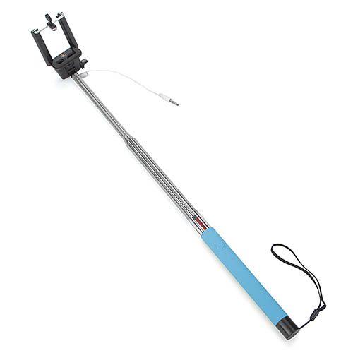 Монопод для селфи UFT Light Blue со шнуром, фото