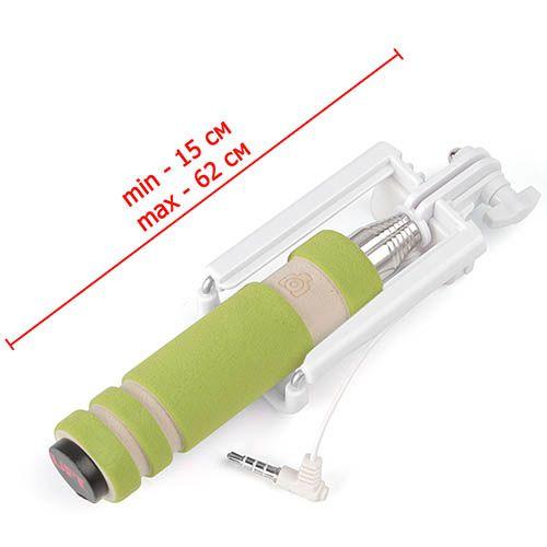 Селфи-монопод UFT SS8 Compact Green со шнуром, фото