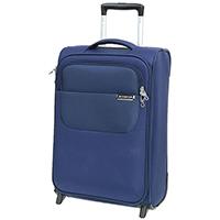 Маленький синий чемодан 55х35х20см March Carter SE с кодовым замком, фото
