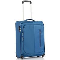 Синий маленький чемодан 55х40х20см Roncato Roma с выдвижной ручкой, фото