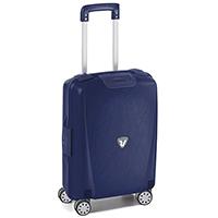 Чемодан размера ручной клади 55х40х20см Roncato Light синего цвета для путешествий, фото