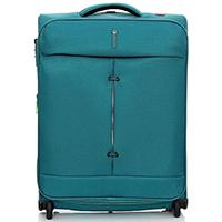 Большой чемодан зеленого цвета 78х48х29-32см Roncato Ironik с функцией расширения, фото