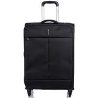 Большой черный чемодан 78х48х29-32см Roncato Ironik с 4х колесной системой, фото