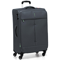Большой серый чемодан 78х48х29-32см Roncato Ironik с 4х колесной системой, фото