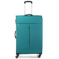 Зеленый чемодан большого размера 78х48х29-32см Roncato Ironik с замком блокировки TSA, фото