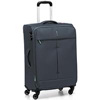 Серый чемодан среднего размера 67x44x27-31см Roncato Ironik с функцией расширения, фото
