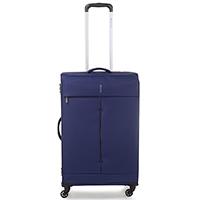 Синий чемодан 67x44x27-31см Roncato Ironik среднего размера на 4х колесах, фото