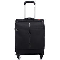 Чемодан черного цвета 55х40х20-23см Roncato Ironik размера ручной клади, фото