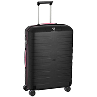Черный среднего размера чемодан 69x46x26см Roncato Box с выдвижной ручкой, фото