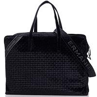 Черная дорожная сумка Ermanno Ermanno Scervino Daria из вельвета, фото