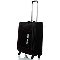 Черный дорожный чемодан 66х42х26см Roncato Jazz среднего размера, фото