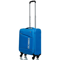 Чемодан голубого цвета 55х35х20см Roncato Jazz с замком блокировки TSA, фото