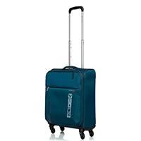 Маленький дорожный чемодан 55х40х20-23см Roncato Speed синего цвета с телескопической ручкой, фото