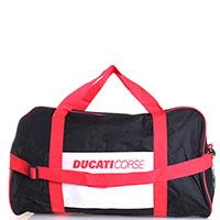 Дорожная текстильная сумка Ducati Corse черная с красным, фото