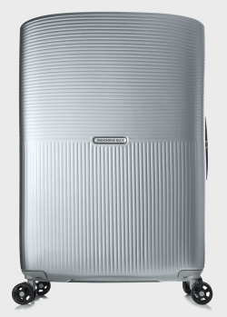 Чемодан серебристого цвета Mandarina Duck Aircase 69x45x31см, фото