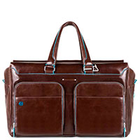 Дорожная сумка Piquadro Blue Square коричневого цвета, фото