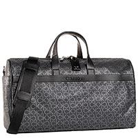 Серая дорожная сумка Calvin Klein с принтом, фото