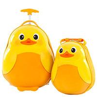 Чемодан и рюкзак Heys Travel Tots Duck для ребенка, фото