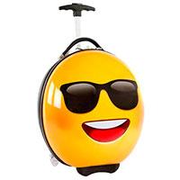 Чемодан для детей Heys E-motion Sunglasses желтого цвета, фото