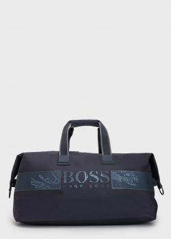 Дорожная сумка Hugo Boss с брендовой надписью, фото