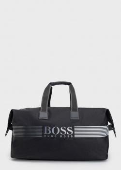 Дорожная сумка Hugo Boss черного цвета, фото
