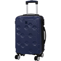 Синий чемодан IT Luggage Hexa Blue Depths 55х35х23см, фото